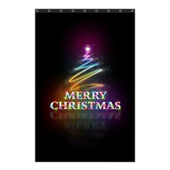 Merry Christmas Abstract Shower Curtain 48  x 72  (Small)