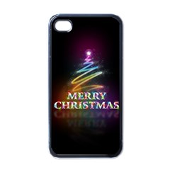 Merry Christmas Abstract Apple iPhone 4 Case (Black)