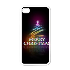 Merry Christmas Abstract Apple iPhone 4 Case (White)