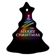 Merry Christmas Abstract Christmas Tree Ornament (2 Sides)