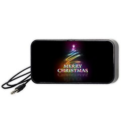 Merry Christmas Abstract Portable Speaker (Black)