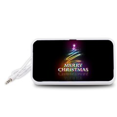 Merry Christmas Abstract Portable Speaker (White)
