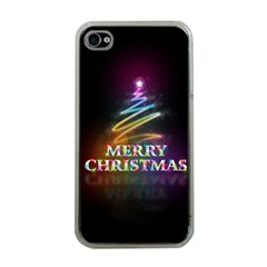 Merry Christmas Abstract Apple iPhone 4 Case (Clear)