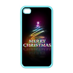 Merry Christmas Abstract Apple iPhone 4 Case (Color)