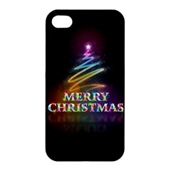 Merry Christmas Abstract Apple iPhone 4/4S Hardshell Case