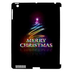Merry Christmas Abstract Apple iPad 3/4 Hardshell Case (Compatible with Smart Cover)