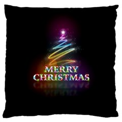 Merry Christmas Abstract Large Cushion Case (One Side)
