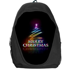 Merry Christmas Abstract Backpack Bag