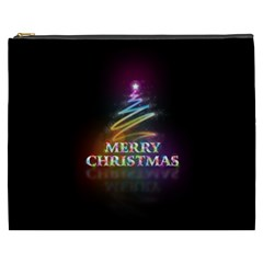 Merry Christmas Abstract Cosmetic Bag (XXXL)