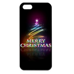Merry Christmas Abstract Apple iPhone 5 Seamless Case (Black)