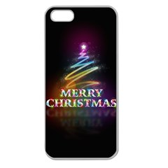 Merry Christmas Abstract Apple Seamless iPhone 5 Case (Clear)