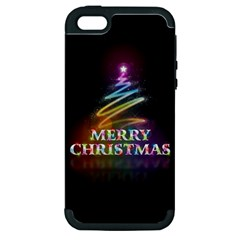 Merry Christmas Abstract Apple iPhone 5 Hardshell Case (PC+Silicone)