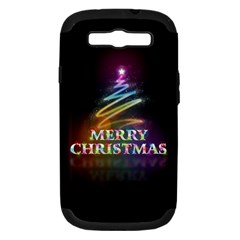 Merry Christmas Abstract Samsung Galaxy S III Hardshell Case (PC+Silicone)