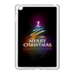 Merry Christmas Abstract Apple iPad Mini Case (White)