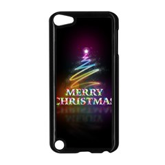 Merry Christmas Abstract Apple iPod Touch 5 Case (Black)
