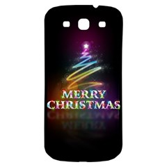 Merry Christmas Abstract Samsung Galaxy S3 S III Classic Hardshell Back Case