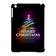Merry Christmas Abstract Apple iPad Mini Hardshell Case (Compatible with Smart Cover)