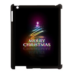 Merry Christmas Abstract Apple iPad 3/4 Case (Black)