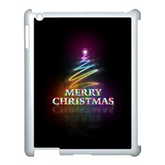 Merry Christmas Abstract Apple iPad 3/4 Case (White)