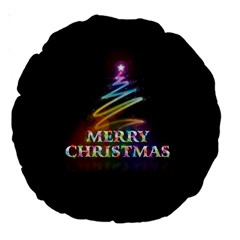 Merry Christmas Abstract Large 18  Premium Round Cushions