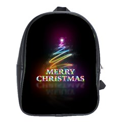 Merry Christmas Abstract School Bags (XL)