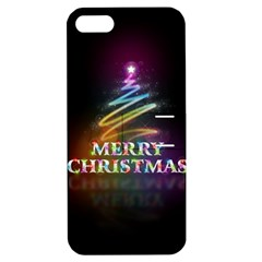 Merry Christmas Abstract Apple iPhone 5 Hardshell Case with Stand