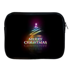 Merry Christmas Abstract Apple iPad 2/3/4 Zipper Cases