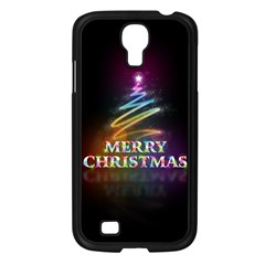 Merry Christmas Abstract Samsung Galaxy S4 I9500/ I9505 Case (Black)