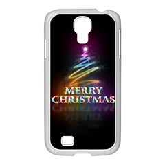 Merry Christmas Abstract Samsung GALAXY S4 I9500/ I9505 Case (White)