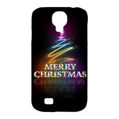 Merry Christmas Abstract Samsung Galaxy S4 Classic Hardshell Case (PC+Silicone)