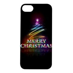 Merry Christmas Abstract Apple iPhone 5S/ SE Hardshell Case