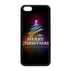 Merry Christmas Abstract Apple iPhone 5C Seamless Case (Black)