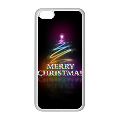 Merry Christmas Abstract Apple iPhone 5C Seamless Case (White)