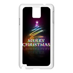 Merry Christmas Abstract Samsung Galaxy Note 3 N9005 Case (White)