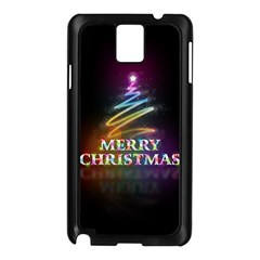 Merry Christmas Abstract Samsung Galaxy Note 3 N9005 Case (Black)