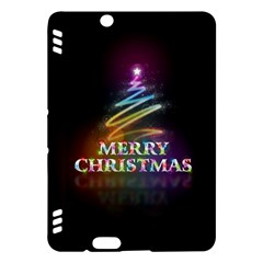 Merry Christmas Abstract Kindle Fire HDX Hardshell Case