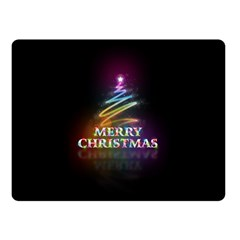 Merry Christmas Abstract Double Sided Fleece Blanket (Small)
