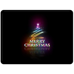 Merry Christmas Abstract Double Sided Fleece Blanket (Large)