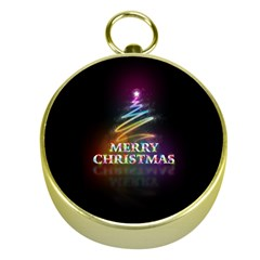 Merry Christmas Abstract Gold Compasses