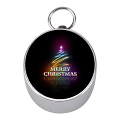 Merry Christmas Abstract Mini Silver Compasses