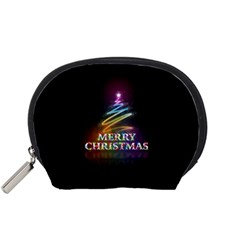 Merry Christmas Abstract Accessory Pouches (Small)