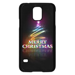 Merry Christmas Abstract Samsung Galaxy S5 Case (Black)