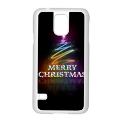 Merry Christmas Abstract Samsung Galaxy S5 Case (White)