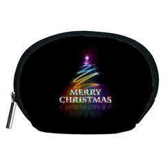 Merry Christmas Abstract Accessory Pouches (Medium)