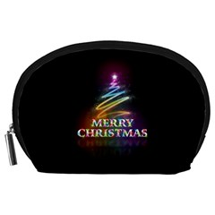 Merry Christmas Abstract Accessory Pouches (Large)