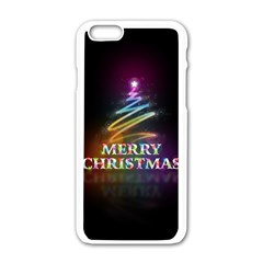 Merry Christmas Abstract Apple iPhone 6/6S White Enamel Case