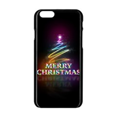 Merry Christmas Abstract Apple iPhone 6/6S Black Enamel Case