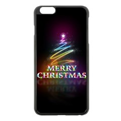Merry Christmas Abstract Apple iPhone 6 Plus/6S Plus Black Enamel Case