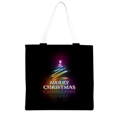 Merry Christmas Abstract Grocery Light Tote Bag