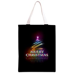 Merry Christmas Abstract Classic Light Tote Bag